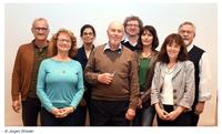 von links: Frank Zintel, Sabine Renate Schmidt, Andrea Hesse (Schatzmeisterin), Stephan Schäfer (1. Vorsitzender), Fritz Loseries, Dr. Sabine Moter, Dr. Ulrike Vogt-Saggau, Reinhold Meixner (Stv. Vorsitzender)